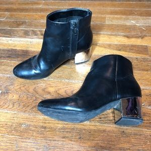 H&M black ankle boots. Mirror heel size 7